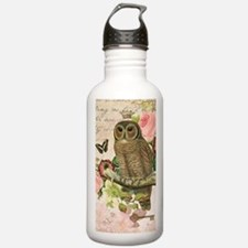 Vintage French shabby chic owl Water Bottle
