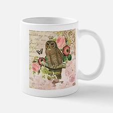 Vintage French shabby chic owl Mug