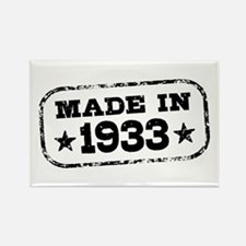Made In 1933 Rectangle Magnet
