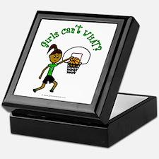 Dark Green Basketball Keepsake Box