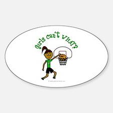 Dark Green Basketball Oval Decal