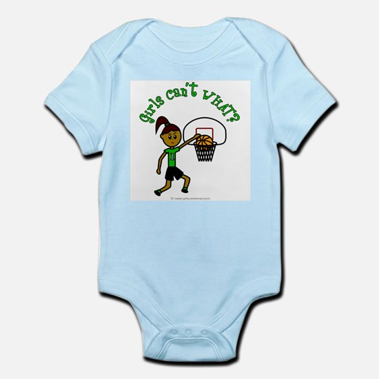 Dark Green Basketball Infant Bodysuit