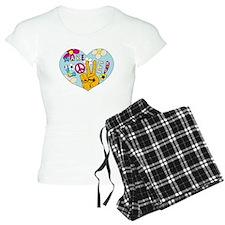 Mod Sixties Make Love Pajamas