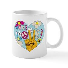Mod Sixties Make Love Small Mug