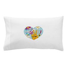 Mod Sixties Make Love Pillow Case