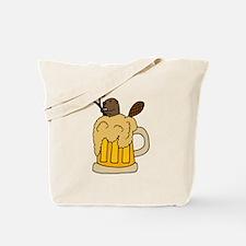 Funny Beaver in Beer Tote Bag