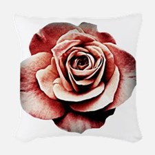 a faded rose Woven Throw Pillow