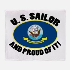 Proud Sailor Throw Blanket