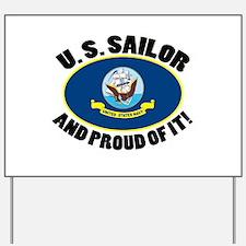 Proud Sailor Yard Sign