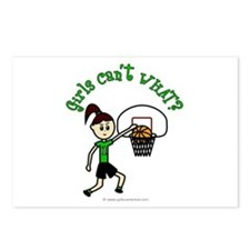 Light Green Basketball Postcards (Package of 8)