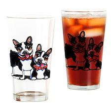 Bowtie Boston Terriers Drinking Glass