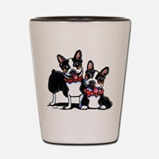 Bowtie Boston Terriers Shot Glass