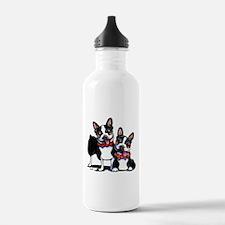 Bowtie Boston Terriers Water Bottle
