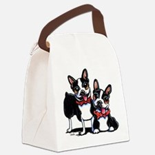 Bowtie Boston Terriers Canvas Lunch Bag