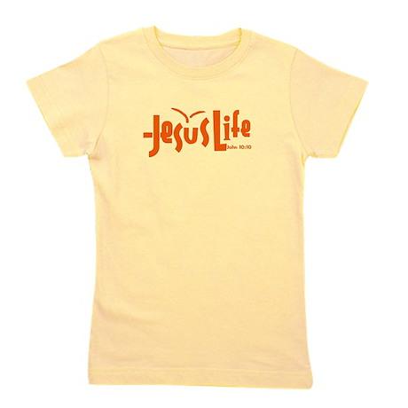 Orange JesusLife Girl's Tee