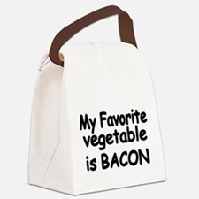 MY FAVORITE VEGETABLE IS BACON Canvas Lunch Bag