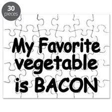 MY FAVORITE VEGETABLE IS BACON Puzzle