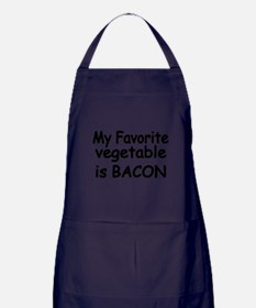 MY FAVORITE VEGETABLE IS BACON Apron (dark)