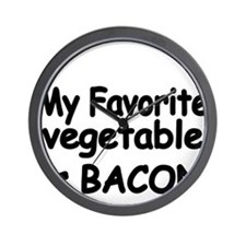 MY FAVORITE VEGETABLE IS BACON Wall Clock