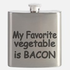 MY FAVORITE VEGETABLE IS BACON Flask