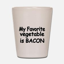 MY FAVORITE VEGETABLE IS BACON Shot Glass