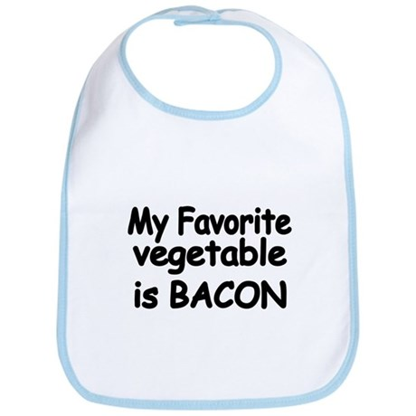MY FAVORITE VEGETABLE IS BACON Bib
