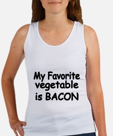 MY FAVORITE VEGETABLE IS BACON Tank Top