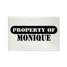 Property of Monique Rectangle Magnet