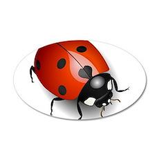 Shiny Ladybug Wall Decal