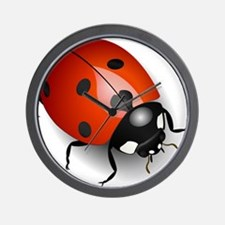 Shiny Ladybug Wall Clock