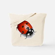 Shiny Ladybug Tote Bag