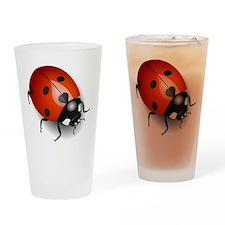 Shiny Ladybug Drinking Glass