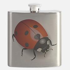Shiny Ladybug Flask