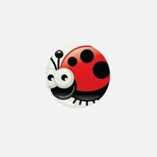 Happy Ladybug Mini Button