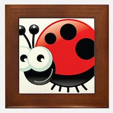 Happy Ladybug Framed Tile