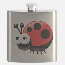 Happy Ladybug Flask