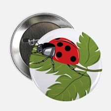 "Ladybug on Leaf 2.25"" Button"