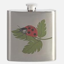 Ladybug on Leaf Flask