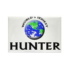 World's Sexiest Hunter Rectangle Magnet