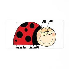 Cute Ladybug Aluminum License Plate