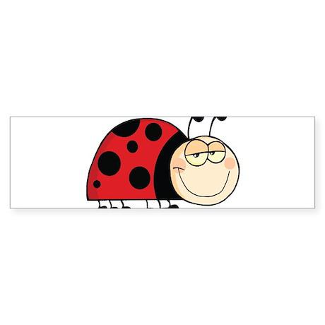 Cute Ladybug Bumper Sticker