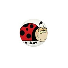 Cute Ladybug Mini Button (10 pack)