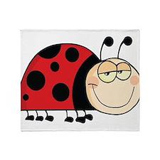 Cute Ladybug Throw Blanket