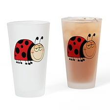 Cute Ladybug Drinking Glass