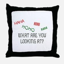 HAHAHOHO Throw Pillow