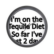 Im on the Tequila Diet Wall Clock
