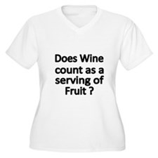 DOES WINE COUNT AS A SERVING OF FRUIT Plus Size T-