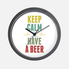 Keep Calm And Have A Beer Wall Clock