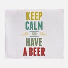 Keep Calm And Have A Beer Throw Blanket