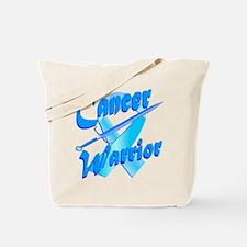 Cancer Warrior Blue Tote Bag